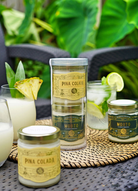 Summer Gift Set - 7 ounce Pina Colada and Mojito candles