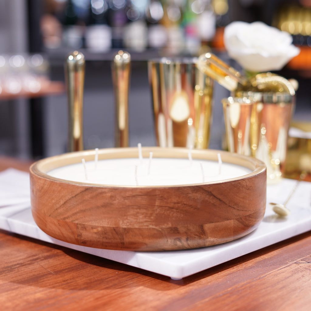 Wine Under the Tree Round Tray Candle