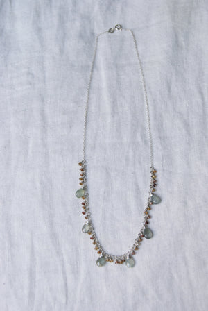 Labradorite Tourmaline Necklace