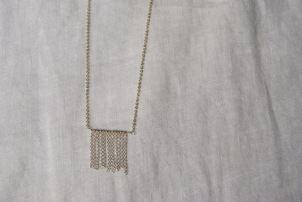 Jagged Chain Fringe Necklace