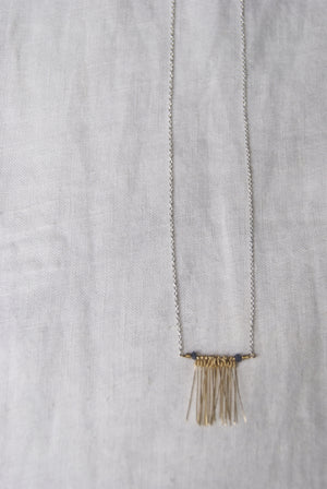 Gold Wire Fringe Necklace