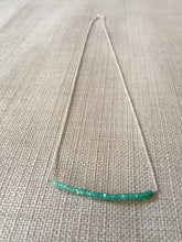 Load image into Gallery viewer, Green Onyx Bar Necklace