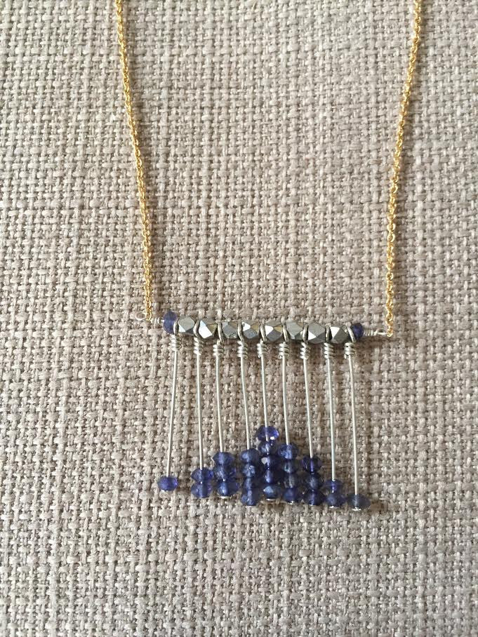 Sapphire Abacus Necklace