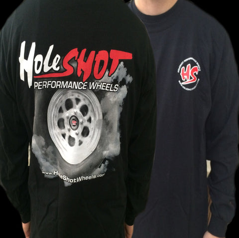 Holeshot Burnout Long Sleeve T-shirt - Black