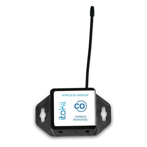 Itokii 900Mhz WIRELESS CARBON MONOXIDE (CO) GAS SENSOR - COMMERCIAL COIN CELL POWERED