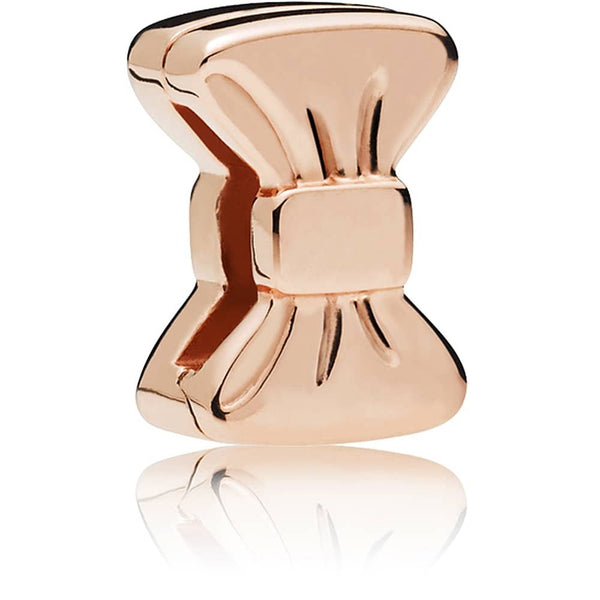 Reflexions Rose Gold Sweet Bow Clip Charm