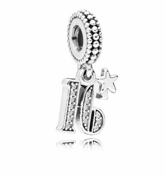 Sweet 16 Years Of Love Star Birthday Charm