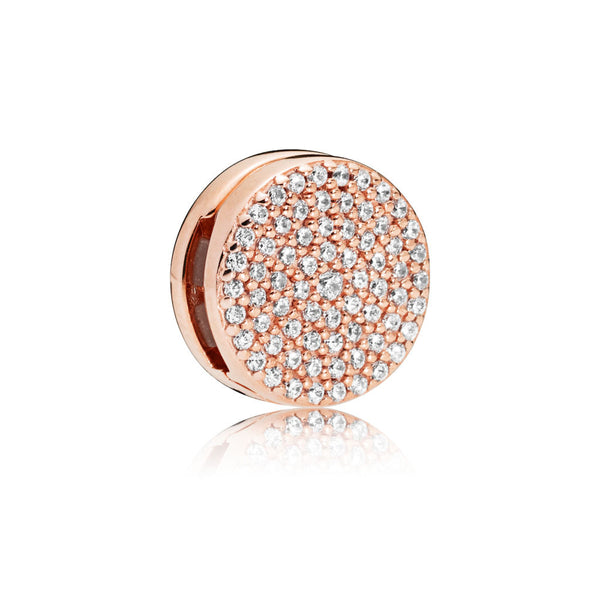 925 Silver Rose Gold Reflexions Dazzling Elegance Clip Charm Fits Reflexions bracelets