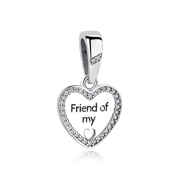 Friend of my heart hanging love Pendant Charm