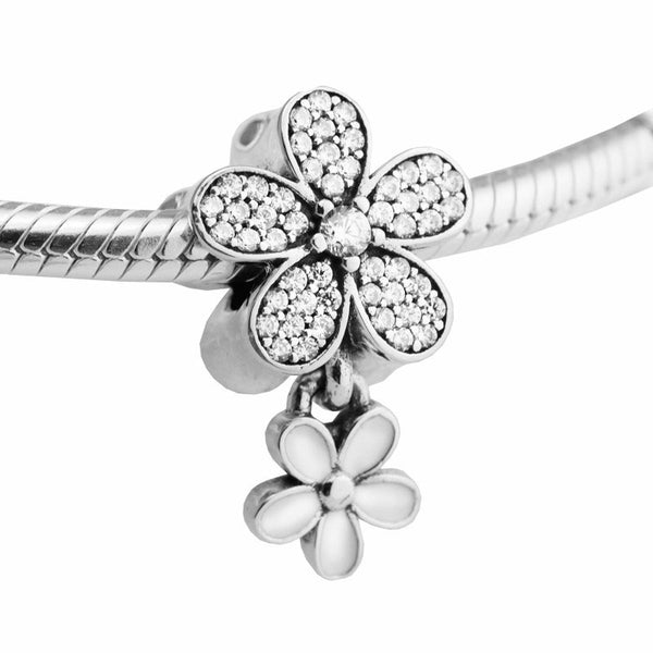 Dazzling Daisy Duo Dangle Charm