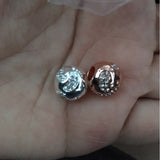 Silver Plated Baby feet stamp new born mom mum charm