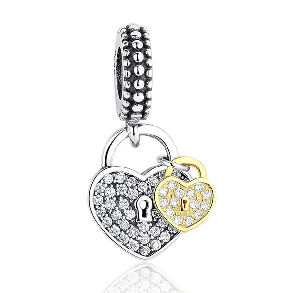 ef7804c32 Silver Plated Love Locks two tone Charm – supersterling