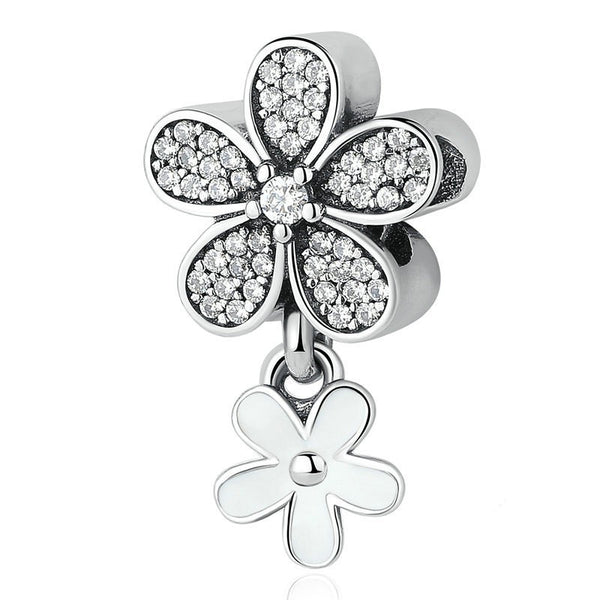 Dazzling Daisy Duo Dangle Charm fits pandora