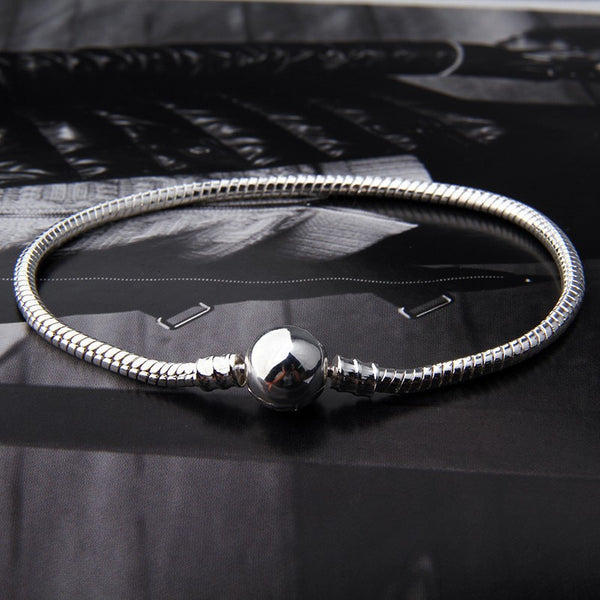 Silver Plated Starter Classic Ball Clasp Bracelet
