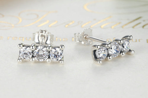 Sterling Silver Delicate Sparkling Elegance Stud Earrings pandora