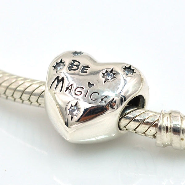 Silver Sterling princess be magical Stars Charm