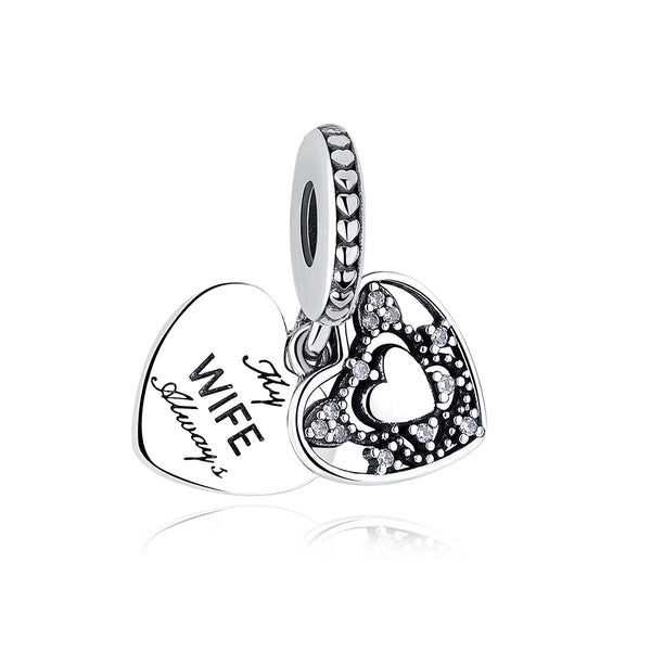 fits pandora bracelets My Wife Always love Anniversary Pendant Charm