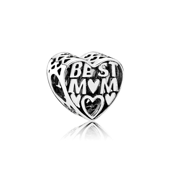 Best Mom Mum Heart Mothers Day Charm
