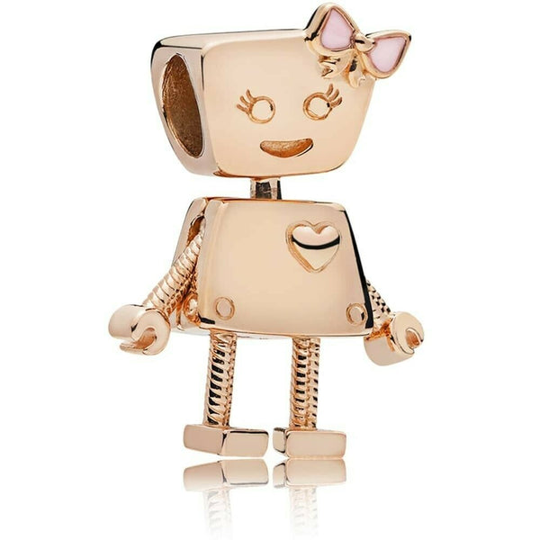 Rose Gold Bella Bot Pink Robot Girl Friend Charm