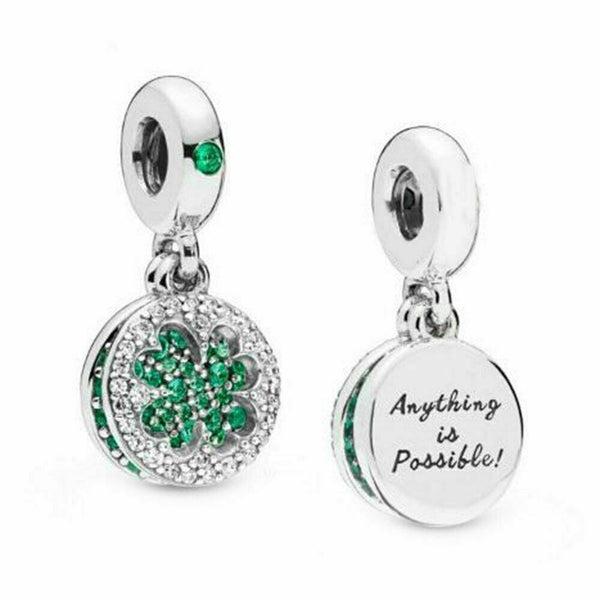 Silver Dazzling Clover Dangle Anything Possible Pandora Charm
