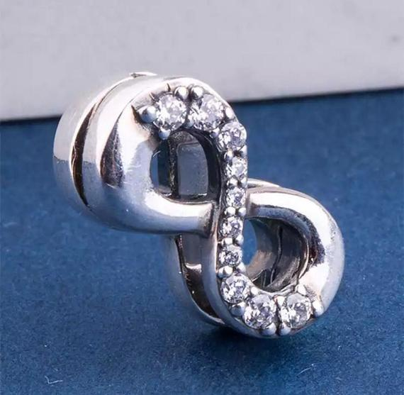 Silver Reflexions Sparkling Infinity Clip Charm pandora
