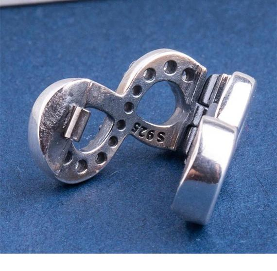 925 Silver Reflexions Sparkling Infinity Clip Charm Fits Reflexions bracelets