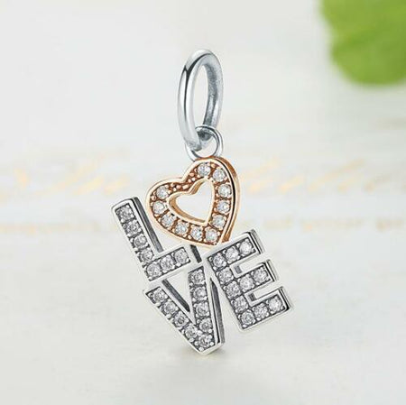 CELEBRATION TIME CHAMPAGNE WINE BOTTLE PENDANT CHARM