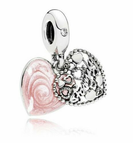 Love Makes a Family Heart Pendant Charm