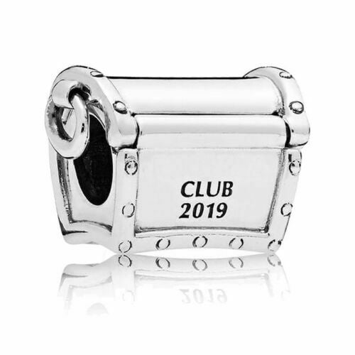 Limited Edition 2019 Club Rose Gold Treasure Chest Box Charm