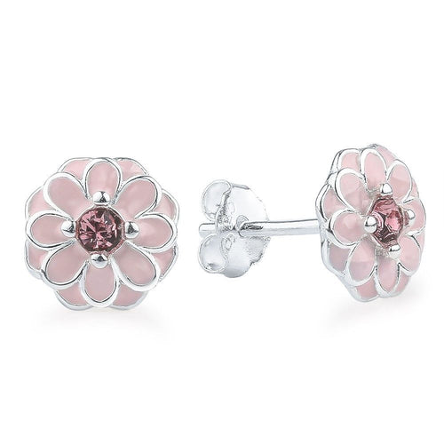 Pink Cherry Blossom Primrose Floral Earrings pandora style