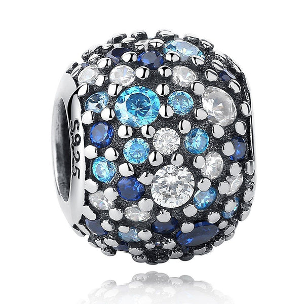 pandora fit blue pave ball charm