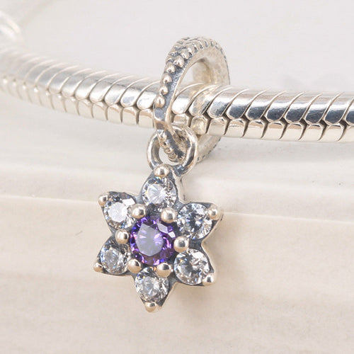 Silver Sterling forget me not pendant Charm