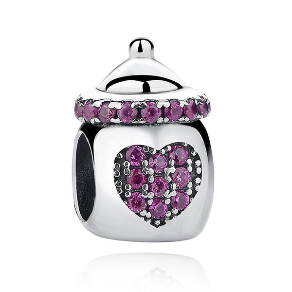 baby girl new born pandora fit pave charm