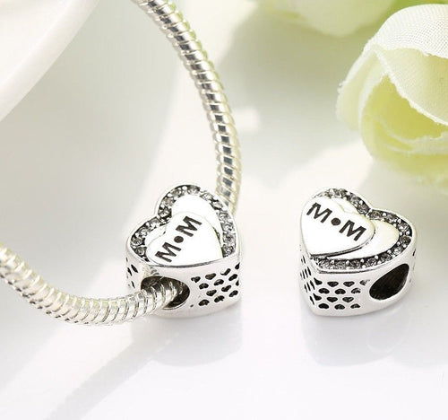 Tribute to Mum MOTHERS DAY Love Heart Charm pandora
