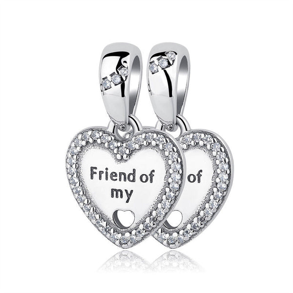 Friend of my heart hanging love Charm set of 2