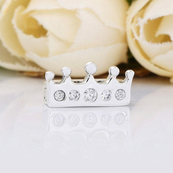 925 Sterling Silver Royal Crown Clip Charm Fits Reflexions bracelets