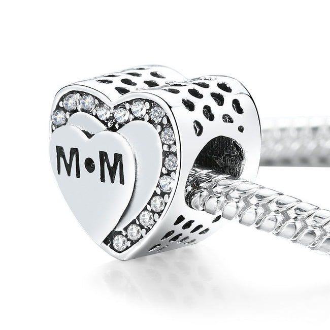 Tribute to Mum MOTHERS DAY Love Heart Charm