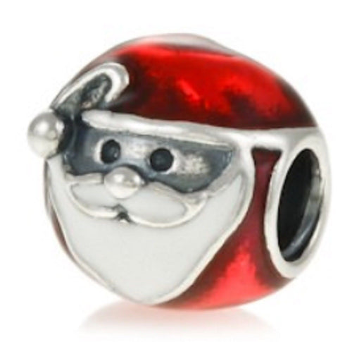 Red Jolly Santa Claus father Christmas xmas Charm