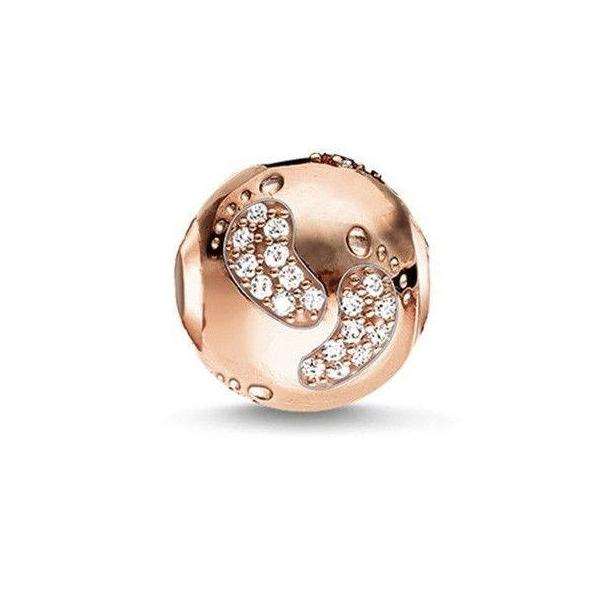 fits pandora rose gold baby feet charm