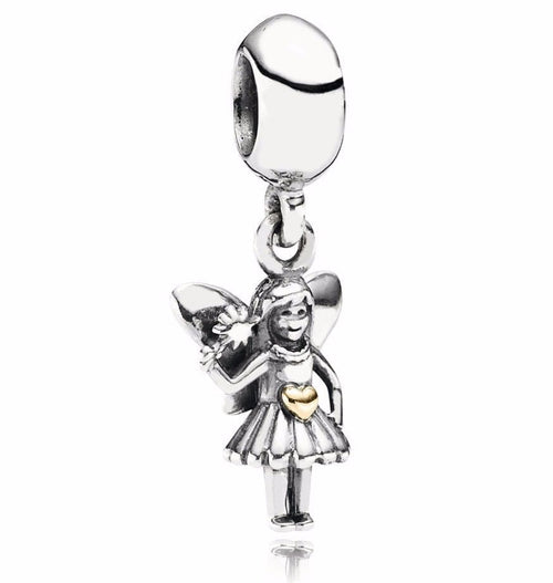 Fairy Godmother Angel Wings Pendant Charm fits pandora bracelets
