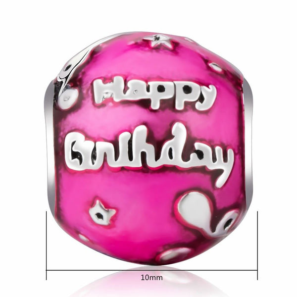 Happy Birthday To You Pink Celebration Charm