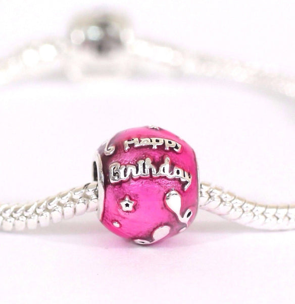 for pandora bracelets Happy Birthday To You Pink Celebration Charm