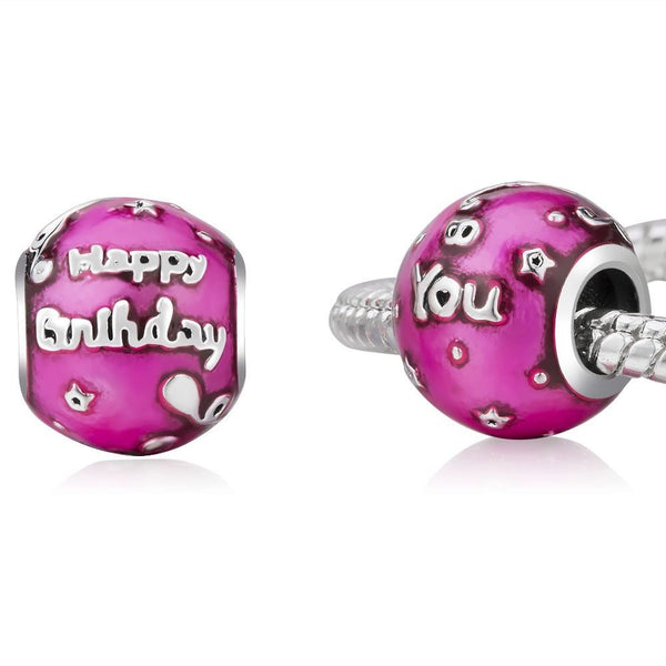 Happy Birthday To You Purple Celebration Charm fits pandora charms