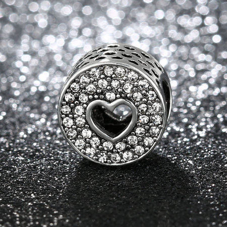 Pave Red Apple Stone Charm fits pandora bracelets
