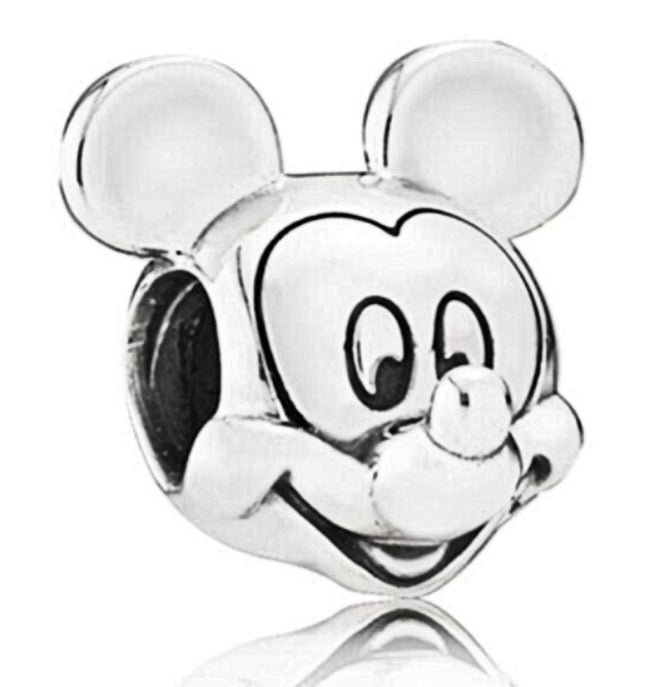 Silver Plated Minnie Mickey Mouse Figure Picture Portrait Charm