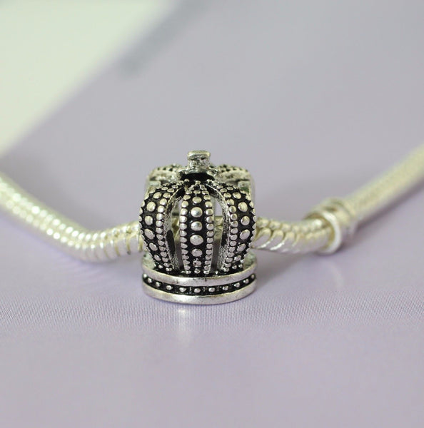 Silver Plated royal crown Charm