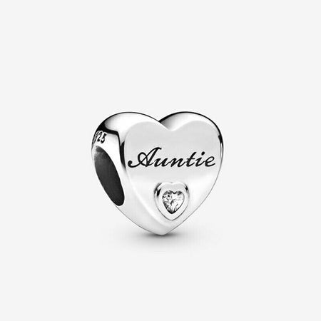 Sterling Silver Grand mother Grandma NAN Heart Charm