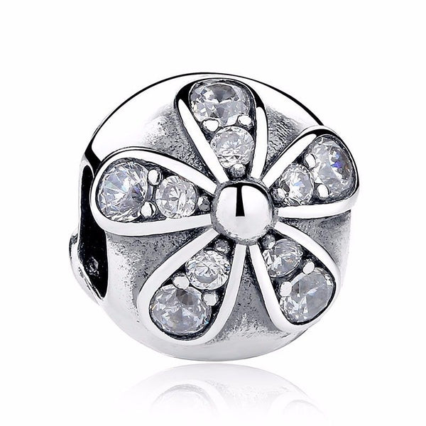 Silver Sterling Dazzling Daisies Stopper Clip fits pandora
