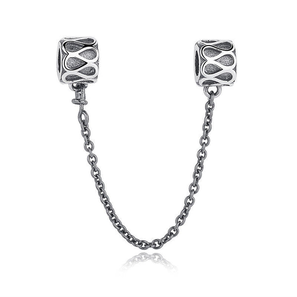 for pandora bracelets Silver Sterling INSPIRATION Raindrop Detailed safety chain