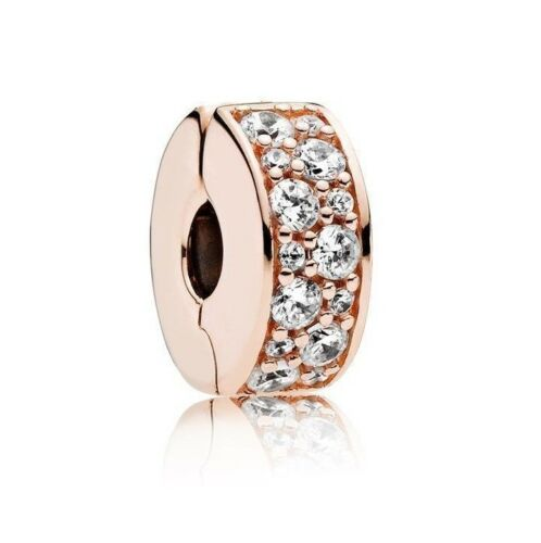 rose gold Shining Elegance Pave Clip Charm